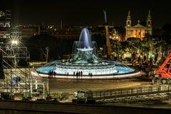 Nocy ujawnienia długi krótkopęd fontanna fotografia royalty free