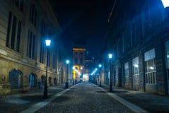 Nocy ulica Zdjęcie Royalty Free