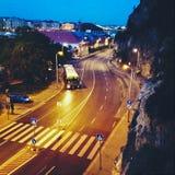 Nocy ulica w Budapest Obraz Royalty Free