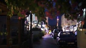 Nocy ulica w Kemer indyk zdjęcie wideo