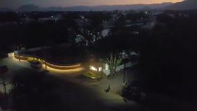 Nocy ulicy w Południowym India zbiory wideo