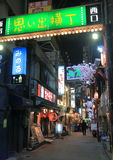Nocy życia tylna ulica Tokio Japonia Obraz Royalty Free
