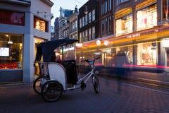 Nocy życie Amsterdam Fotografia Royalty Free