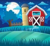 Nocy ziemi uprawnej temat 1 ilustracja wektor