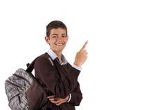 Nod student. Isolated on white royalty free stock photo