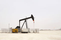 Nodding Donkey oil pumps in Bahrain oil field Stock Image