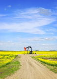 Nodding oil pump in prairies Stock Photos