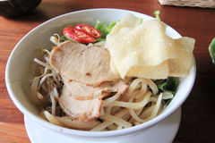 Noddle food shot. Noddle with meat and vegetable Royalty Free Stock Photos