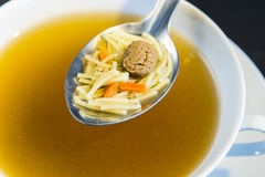 Noddle soup with beef balls Royalty Free Stock Images