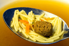 Noddle soup with beef balls Stock Photos