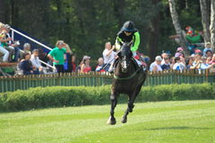 Noddy in steeplechase in Lysa nad Labem Royalty Free Stock Image