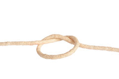 Node. Variants of the rope with node on white background Stock Photography
