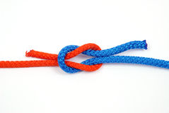 Node with colored ropes Royalty Free Stock Photos
