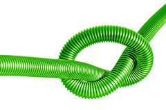 Node on the green  plastic tube Royalty Free Stock Image
