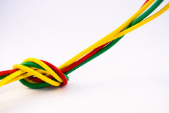 Node have been made of colorful wires. On white background Stock Images