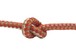 Node. Simple rope knot on a white background Royalty Free Stock Image
