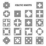 Nodi celtici quadrati Immagine Stock