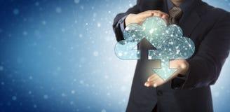 Nodi collegati Offering Cloud Containing del responsabile fotografia stock