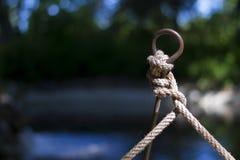 Nodi della corda Fotografie Stock