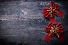 Nodi di Natale sullo spazio della copia del bordo di legno Immagine Stock Libera da Diritti