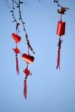 Nodi e benedizioni cinesi Fotografia Stock Libera da Diritti
