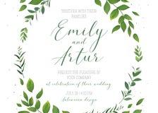 Nodigt de huwelijks bloemenuitnodiging, sparen de vector van de datumkaart tem uit stock illustratie