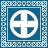 Nodo celtico antico, simbolo di protezione usato da vichingo, vettore Immagine Stock