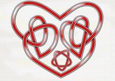 Nodo celtico del cuore Fotografia Stock