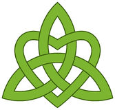 Nodo celtico della trinità con un cuore Fotografia Stock Libera da Diritti