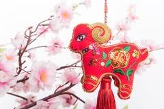 Nodo cinese della capra Immagini Stock