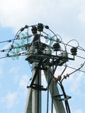 Nodo de Electricity.Complex de los alambres de travesía. fotos de archivo