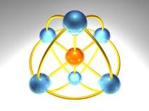 nodo de red 3D ilustración del vector
