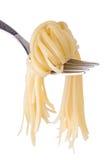 Nodo degli spaghetti sulla forcella fotografia stock