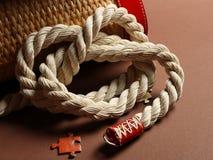 Nodo del sacchetto della maniglia Fotografie Stock Libere da Diritti