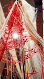 Nodo della corda, filato e telaio per tessitura Immagini Stock Libere da Diritti