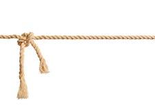Nodo della corda su fondo bianco isolato Fotografie Stock Libere da Diritti