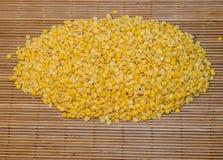 Nodo delle lenticchie gialle Fotografia Stock Libera da Diritti