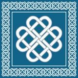 Nodo di amore celtico, simbolo di fortuna, illustrazione di vettore Immagine Stock Libera da Diritti