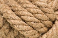 Nodo legato della corda Fotografie Stock Libere da Diritti