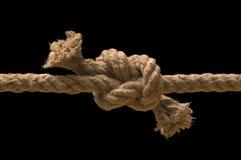 Nodo legato sulla corda Fotografie Stock