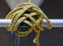 Nodo nautico del dettaglio Fotografia Stock