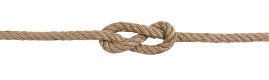 Knot Savoia. On a white background Stock Photography