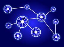 Nodos azules Imagen de archivo libre de regalías