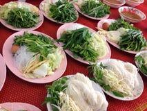 Noedel met groente Stock Afbeelding