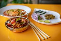 Noedels & Kebabs Stock Afbeeldingen