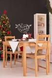 Noel-Abendessentischschmuck lizenzfreie stockbilder