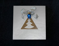 Noel azul Fotografia de Stock Royalty Free