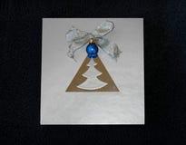 Noel bleu Photographie stock libre de droits