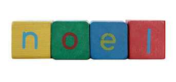 Noel in children's block letters Stock Image