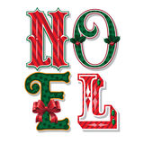 Noel decorated Christmas typography in french Royalty Free Stock Photos